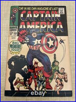 Captain America #100 First Solo Edition -1968 Silver Age Marvel Comics