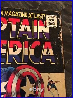 Captain America # 100 Marvel Comics 1968 1st Captain America Solo Book Nice Copy