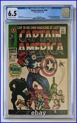 Captain America #100 Marvel Comics 1968 Graded CGC 6.5