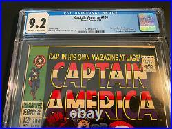 Captain America #100 Start Of Cap Series SA CGC 9.2 OW-W HOT D+ Series