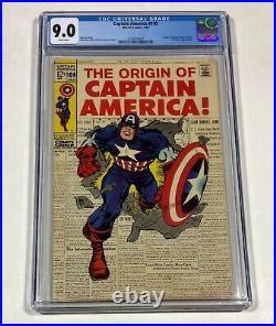 Captain America #109 CGC 9.0! WHITE! NICE! (OCaptain America!) 1969 Marvel