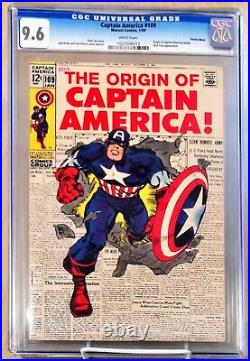 Captain America #109 CGC 9.6 White Pages Classic Kirby 1969
