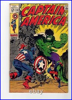 Captain America #110 1st Appearance Viper Steranko Cover Glossy! Vf
