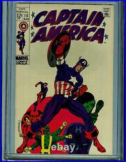 Captain America #111 CGC 9.0 VF/NM 1969 Silver Age Marvel Comic K21