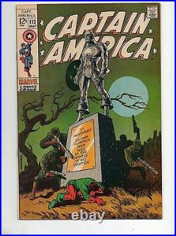 Captain America #113 VF+ 8.5 STERANKO CLASSIC COV/ART AVENGERS! Cap's Funeral 4
