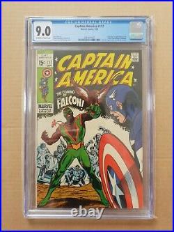 Captain America #117-1st appearance & origin of the Falcon & Redwing CGC 9.0