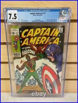 Captain America #117 CGC 7.5 (Marvel Comics 1969) 1st Appearance of the Falcon
