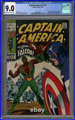 Captain America #117 CGC 9.0 (OW-W) Origin & 1st Appearance of the Falcon