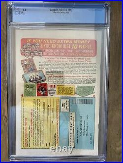 Captain America #117, First Falcon! Cgc 8.0 White Pages! Key Issue
