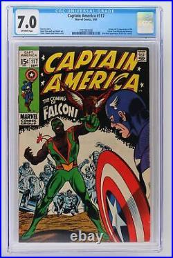 Captain America #117 Marvel 1969 CGC 7.0 1st App & Origin Falcon & Redwing