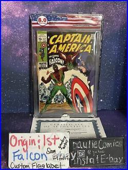 Captain America #117 Origin 1st Falcon Sam Wilson 8.0 EGS Marvel Comic Not CGC