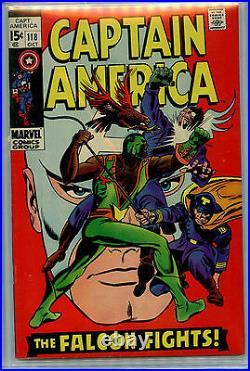 Captain America #118 CBCS 9.2 1969 Silver Age Marvel Comics 2nd Falcon B3