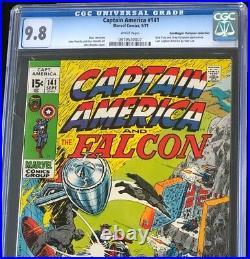 Captain America #141 (1971) CGC 9.8 Pedigree HIGHEST GRADED! Marvel Comic