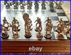Captain America 1990 Pewter Chess Set! Marvel Comics! Gallo Figures! Rare! Htf