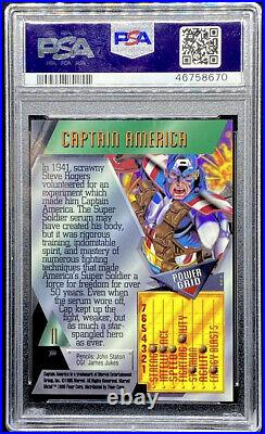 Captain America 1995 Marvel Metal #11 Mint PSA 9 POP 7