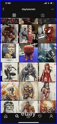 Captain America #1 CGC 9.8 SS Original Art Clayton CrainSigned Darkhawk