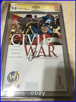 Captain America 1 CGC SS 9.8 Chris Evans Auto Civil War Golden Variant 2/16