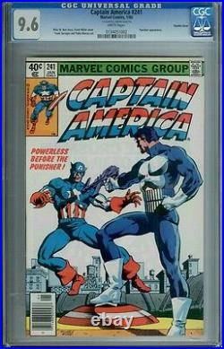 Captain America #241 Cgc 9.6 White Pages Double Cover Newsstand Edition Rare