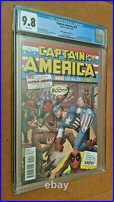 Captain America #25 125 Christopher #1 Homage Punching Hitler Variant CGC 9.8