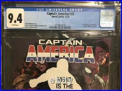 Captain America #25 CGC 9.4 1ST Sam Wilson As Captain America Marvel Comic 2014