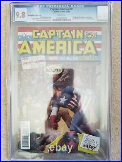 Captain America #25 CGC 9.8 Christopher 125 Homage Punching Hitler Variant