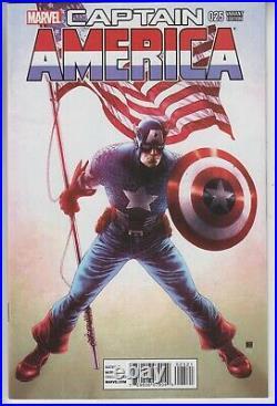 Captain America # 25 Nm Key Sam Wilson As New Captain America Rare Variant 2014