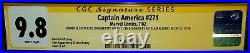Captain America 271 CGC 9.8 SIGNED Stan Lee Ric Flair John Beatty Sketch comic