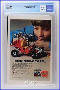 Captain America #275 Marvel 1982 CGC 9.8 1st Appearance of Baron Zemo II