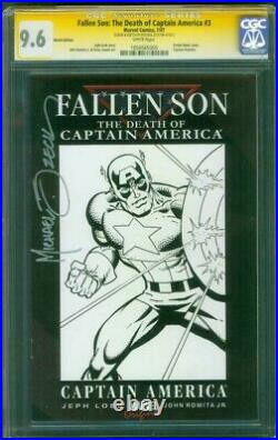 Captain America 3 CGC 9.6 SS Mike Zeck original art sketch Avengers 2018 Movie