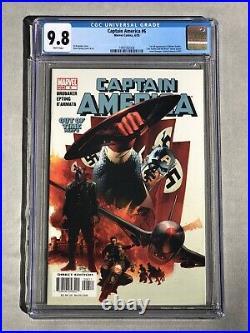 Captain America #6CGC 9.8 WP1ST APP WINTER SOLDIER! Disney + Series