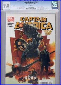 Captain America #6 Variant CGC 9.8 NM/MT WP 1st Full Winter Soldier 2005