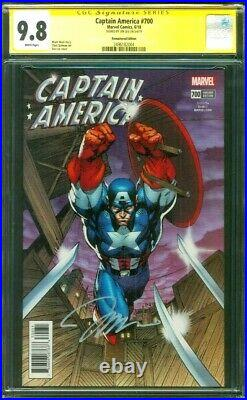 Captain America 700 CGC 9.8 SS Jim Lee Remastered 1500 Exclusive Variant