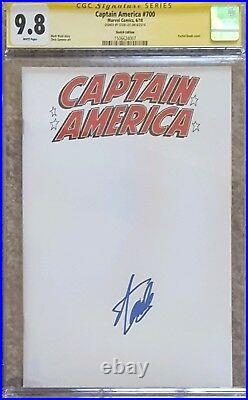 Captain America #700 blank cover variant CGC 9.8 SS Signed by Stan Lee (RARE)
