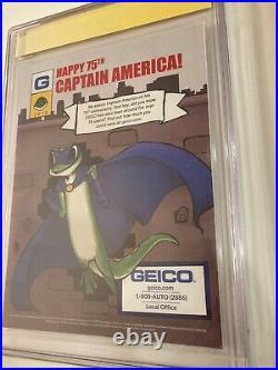Captain America 75th Anniversary Magazine #1 signed Chris Evans CGC 9.8 NM Grade