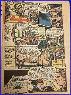 Captain America Comics #22 GOLDEN AGE 1943 TIMELY Marvel Shores ICONIC cover HTF
