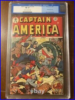 Captain America Comics #52 1/46 CGC 5.5 C/OW SCHOMBURG COVER -Nice