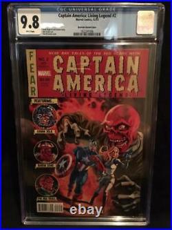 Captain America Living Legend #2 1/50 Brereton Variant Cgc 9.8 Rare Red Skull