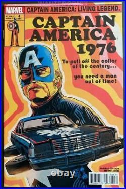 Captain America Living Legend #4 Francavilla Variant Cover 150 Comic Book New 1