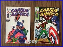 Captain America Lot #s 110 111 112 113 114 115 116 117 118 119 FN Avg 1st Falcon