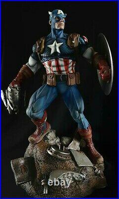 Captain America Statue Sculpture Art / Nt XM Sideshow Prime 1 / Marvel Comics