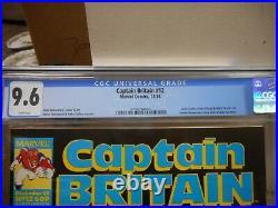 Captain Britain 12 cgc 9.6 Marvel 1985 WHITE pgs NM MINT magazine size comic