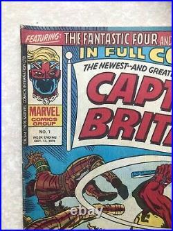 Captain Britain 1 (1976) 1st Appearance & Origin, Uk Marvel Comics Weekly