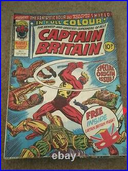 Captain Britain #1-39 Marvel Uk & 2nd Copy Of #1 Great Condition