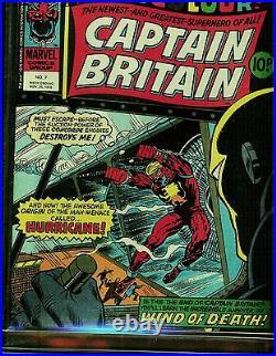 Captain Britain #7 Cgc 9.8 Highest 1976 Marvel Early Howard Duck Comic Included