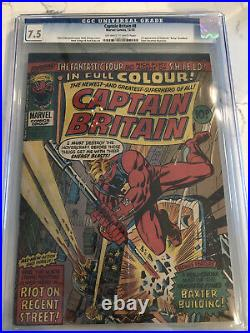 Captain Britain 8 1st appearance BETSY BRADDOCK CGC 7.5