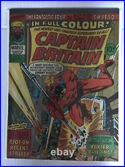 Captain Britain # 8 Betsy Braddock Psylocke 1976 Nm- High Grade Marvel Comic