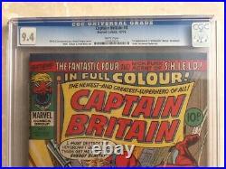 Captain Britain #8 first Psylocke CGC 9.4