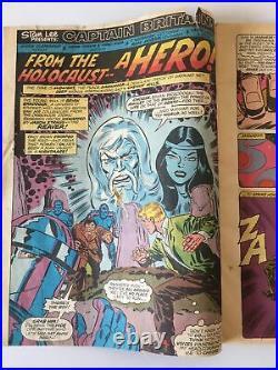 Captain Britain. No. 2. Boomerang Included. Vintage 1976. Marvel Comics Uk