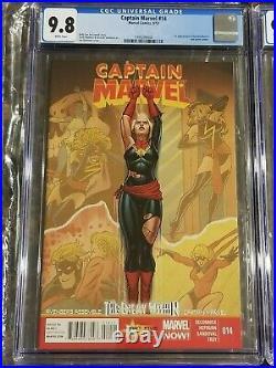 Captain Marvel #14 & #17 CGC 9.8 1st & 2nd Appearance of Kamala Khan Disney+ MCU