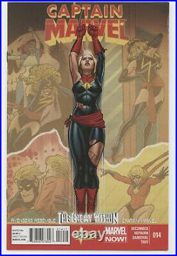 Captain Marvel 14 A 7th Series Marvel 2013 FN 1st Kamala Khan